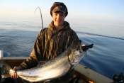 hooked up sport fishing charters - Beautiful Salmon